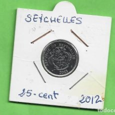 Monedas antiguas de África: SEYCHELLES. 25 CENT 2012. ACERO BAÑADO EN NÍQUEL. KM#49A. Lote 246361955