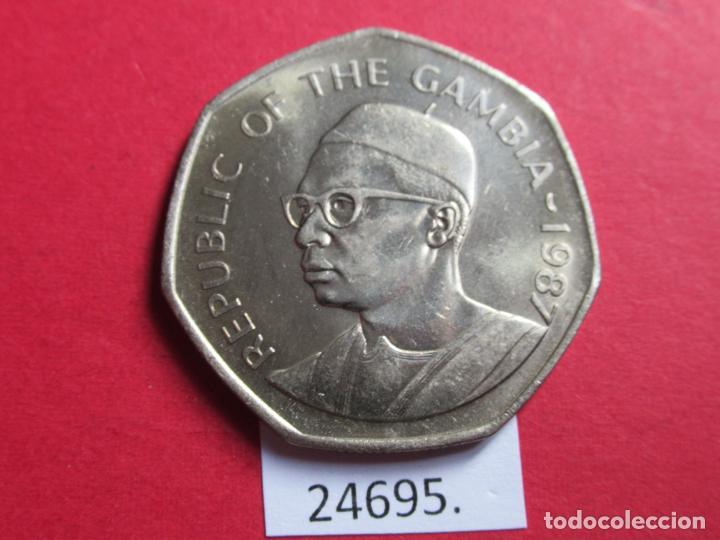 GAMBIA 1 DALASI 1987 (Numismática - Extranjeras - África)