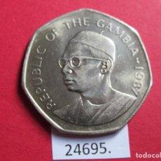Moedas antigas de África: GAMBIA 1 DALASI 1987. Lote 247009530