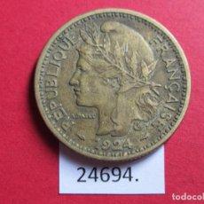 Monedas antiguas de África: TOGO FRANCES 2 FRANCOS 1924. Lote 247010145