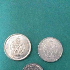 Monedas antiguas de África: REPÚBLICA ÁRABE SAHARAUI DEMOCRÁTICA-LOTE 3 MONEDAS-SC. Lote 248510900
