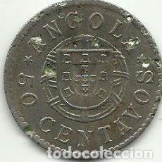 Monete antiche di Africa: 50 CENTAVOS ANGOLA 1922 - FOTOS. Lote 250226375