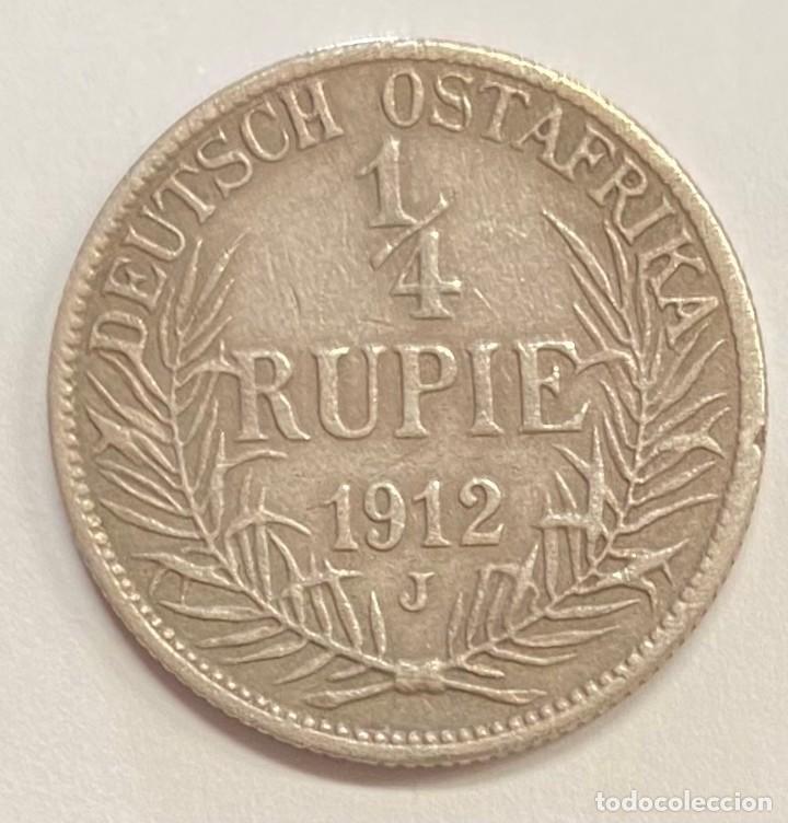 Monedas antiguas de África: AFRICA OCCIDENTAL ALEMANA, MONEDA DE 1/4 DE RUPIA DEL AÑO 1912 - Foto 2 - 254314460