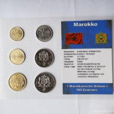 Monedas antiguas de África: BLÍSTER 6 MONEDAS MARRUECOS. PLASTIFICADAS. TEXTO EN ALEMÁN. SC.. Lote 254431475