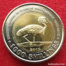 Monedas antiguas de África: UGANDA 1000 SHILLING 2012 INDEPENDENCIA UNC. Lote 287954923