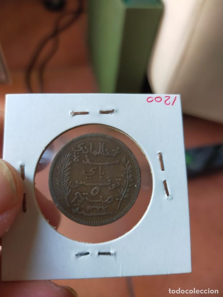 Monedas antiguas de África: MONEDA DE 5 CINCO CENTIMOS CENTIMES 1904 A MUHAMMAD AL ADI MUY BUENA CONSERVACION TUNEZ - Foto 2 - 254996275