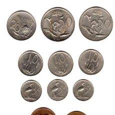 Monedas antiguas de África: BKZ SUDAFRICA LOTE 11 MONEDAS DIF INC CONMEMORATIVAS. Lote 255276770