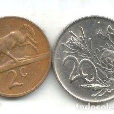 Monedas antiguas de África: M 10842 SUDAFRICA LOTE DE 2 MONEDAS 1977. Lote 255284275