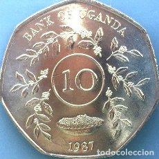 Monedas antiguas de África: UGANDA MONEDA DE 10 CHELINES 1987 IMPECABLE SCIRC. Lote 255295780