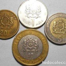Monedas antiguas de África: REINO DE MARRUECOS LOTE DE 20 SANTIMAT 1 5 Y 10 DIRHAM. Lote 255303345