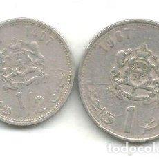 Monedas antiguas de África: M 14374 MARRUECOS LOTE 2 MONEDAS 1987. Lote 255300700