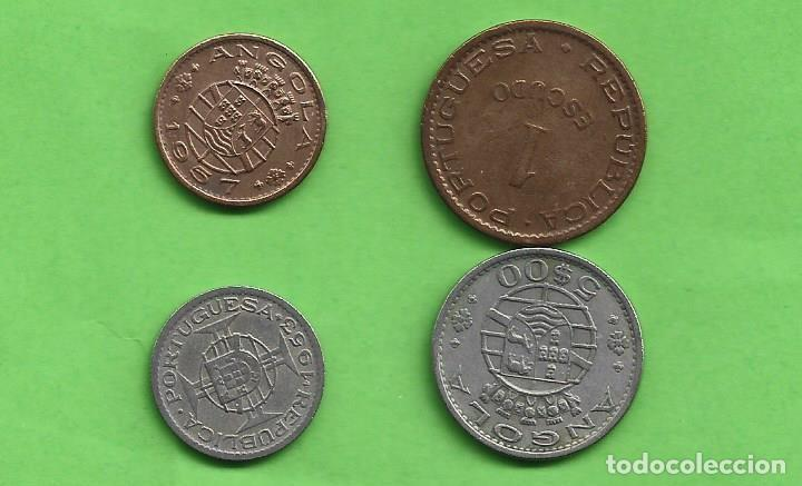 ANGOLA/DEP PORTUGUESA. 4 MONEDAS DE 4 VALORES DIFERENTES (Numismática - Extranjeras - África)