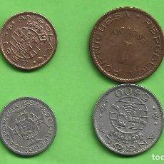 Monedas antiguas de África: ANGOLA/DEP PORTUGUESA. 4 MONEDAS DE 4 VALORES DIFERENTES. Lote 255390225