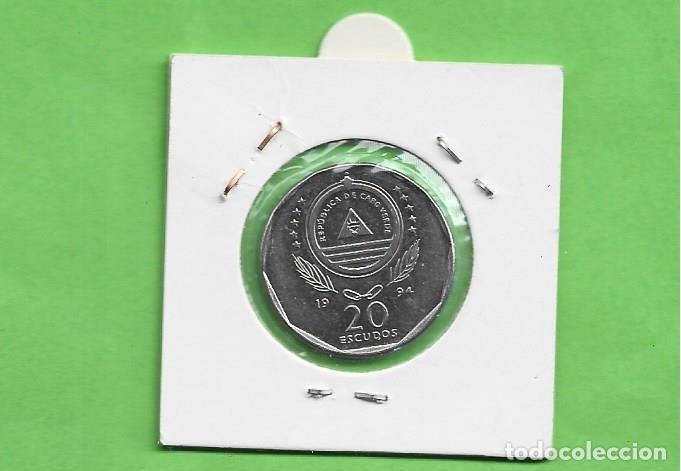 Monedas antiguas de África: CABO VERDE 20 ESCUDOS 1994. CARQUEJA. ACERO BAÑADO EN NÍQUEL. KM#33 - Foto 2 - 255418515