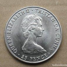 Monedas antiguas de África: TRISTAN DE ACUÑA - 25 PENIQUES 1980 - NACIMIENTO DE LA REINA MADRE.. Lote 255644190