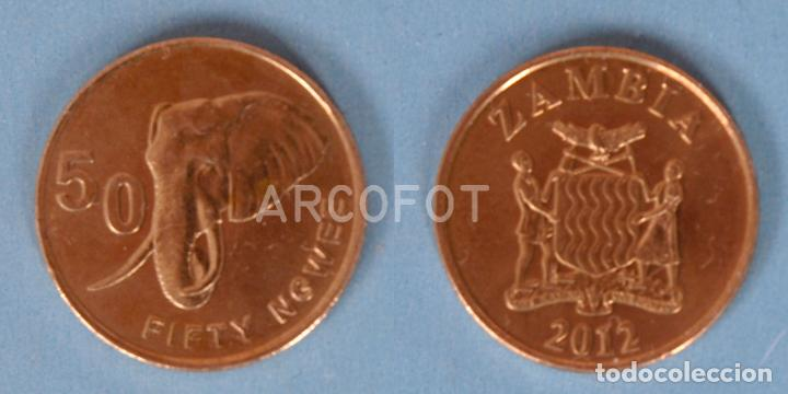 MONEDA ZAMBIA DE 50 NGWEE 2012 - FIFTY NGWEE - LA DE LA FOTO (Numismática - Extranjeras - África)