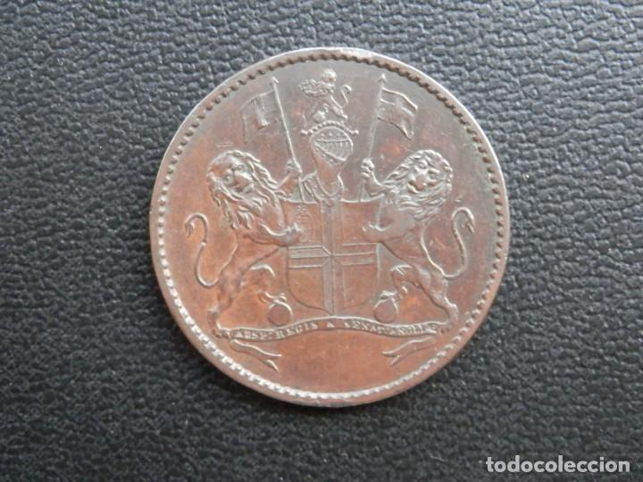Monedas antiguas de África: ISLA DE SANTA ELENA MONEDA HALF PENNY AÑO 1821, CONSERVACIÓN = MBC BONITA PATINA - Foto 2 - 255994785