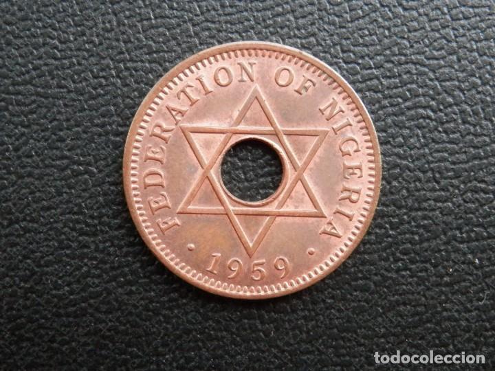 Monedas antiguas de África: NIGERIA MONEDA HALF PENNY AÑO 1959, CONSERVACIÓN = SC LA MONEDA CONSERVA PARTE BRILLO ORIGINAL - Foto 2 - 255995555