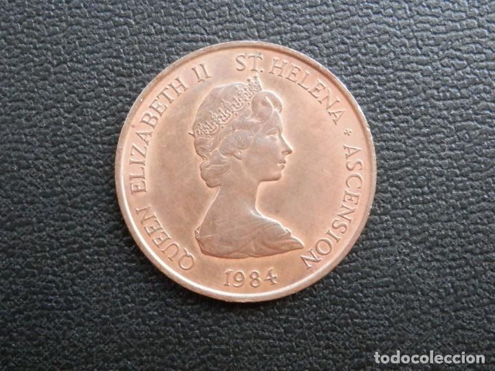 Monedas antiguas de África: ISLA SANTA ELENA 2 PENCE AÑO 1984, CONSERVACIÓN = SC LA MONEDA CONSERVA PARTE BRILLO ORIGINAL - Foto 2 - 255995955