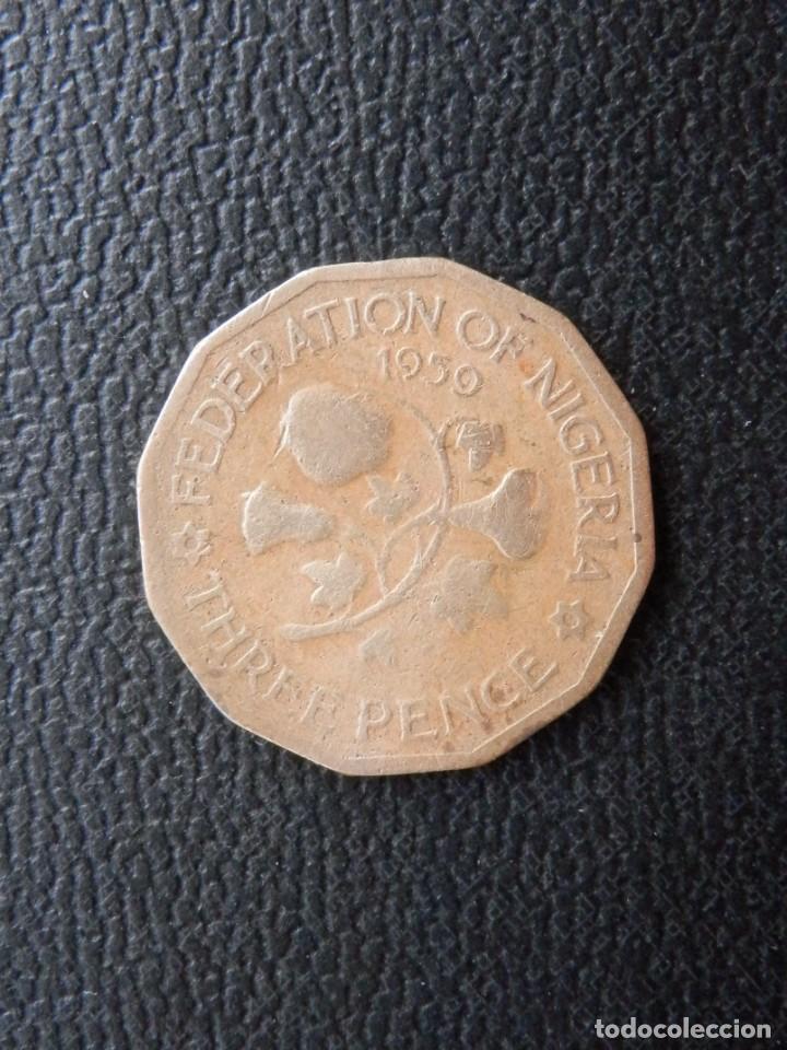 NIGERIA 3 PENCE AÑO 1959, CONSERVACIÓN = BC (Numismática - Extranjeras - África)