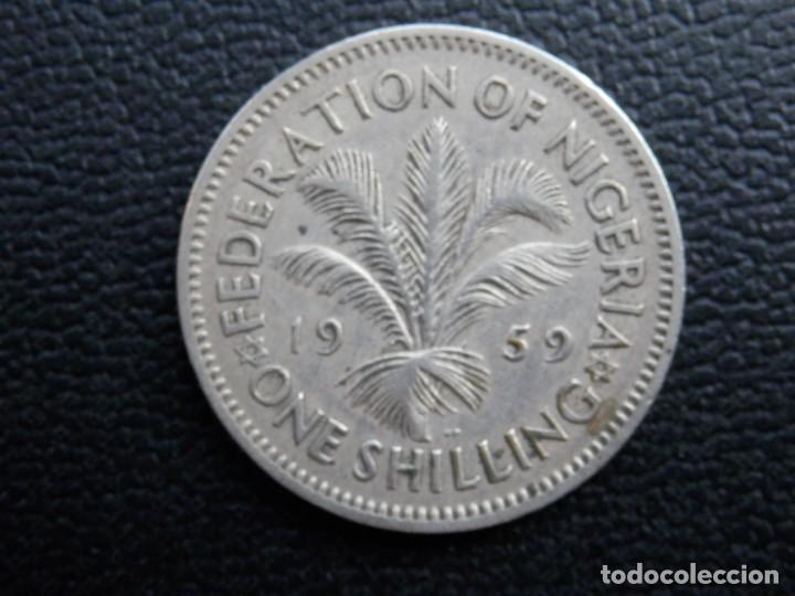 NIGERIA 1 SHILLING AÑO 1959, CONSERVACIÓN = MBC (Numismática - Extranjeras - África)