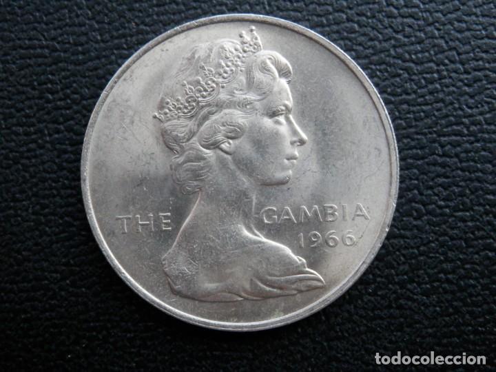Monedas antiguas de África: GAMBIA 2 SHILLINGS AÑO 1966, CONSERVACIÓN = SC. LA MONEDA NO HA CIRCULADO - Foto 2 - 256007420