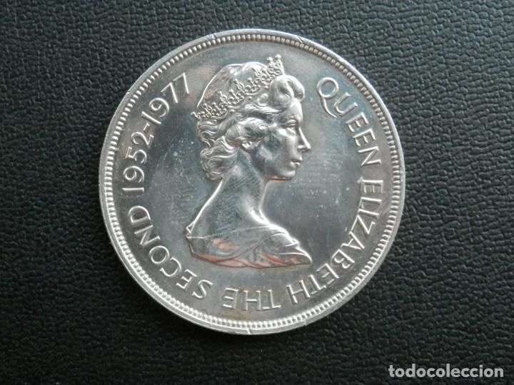Monedas antiguas de África: ISLA DE SANTA ELENA 25 PENCE AÑO 1977, CONSERVACIÓN = SC. LA MONEDA NO HA CIRCULADO - Foto 2 - 256016070
