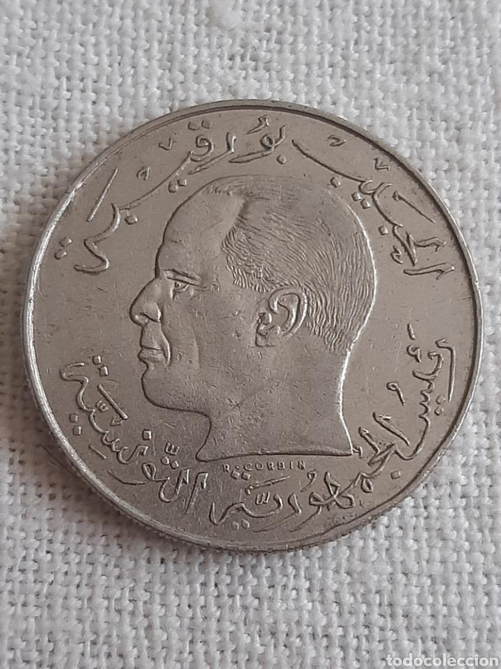 (TÚNEZ)(1968) 1/2 DINAR (Numismática - Extranjeras - África)