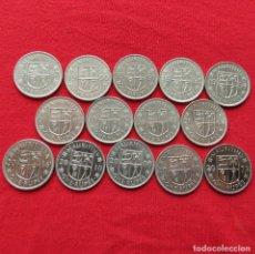 Monedas antiguas de África: MAURÍCIO 14 MOEDAS TODAS DIFERENTES 1 RUPEE 1987 - 2016 MAURITIUS. Lote 257879720