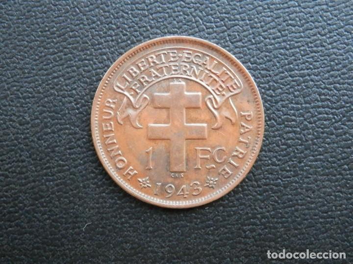 CAMERÚN FRANCÉS MONEDA 1 FRANCO AÑO 1943. CONSERVACIÓN: MBC BONITA PATINA (Numismática - Extranjeras - África)