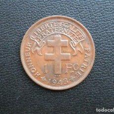 Monedas antiguas de África: CAMERÚN FRANCÉS MONEDA 1 FRANCO AÑO 1943. CONSERVACIÓN: MBC BONITA PATINA. Lote 259034660