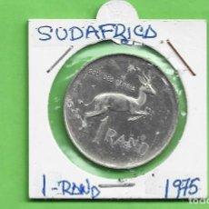 Monedas antiguas de África: PLATA-SUDAFRICA. 1 RAND 1975. 15 GRAMOS DE LEY 0,800. KM#88. Lote 259250000