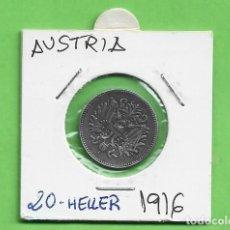 Monedas antiguas de África: AUSTRIA. 20 HELLERS 1916. HIERRO KM#2826. Lote 260375985