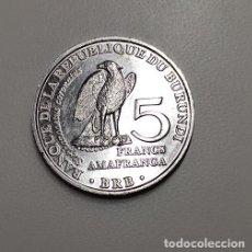 Monedas antiguas de África: 5 FRANCOS BURUNDI 2014. Lote 260653040