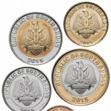 Monedas antiguas de África: SOUTH SUDAN SET 5 PCS 10 20 50 PIASTRAS 1 2 LIBRAS 2015 FAUNA S/C. Lote 261571650