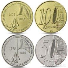 Monedas antiguas de África: ANGOLA 50 Y 100 KWANZAS 2015 40 ANIVERSARIO INDEPENDENCIA - SIN CIRCULAR. Lote 261844635