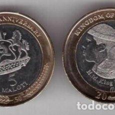 Monedas antiguas de África: LESOTO 5 MALOTI 2016 BIMETÁLICA SIN CIRCULAR. Lote 261846385