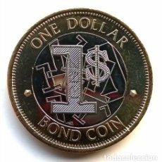 Monedas antiguas de África: ZIMBABWE 1 DÓLAR BOND 2016 BIMETÁLICA - SIN CIRCULAR. Lote 261847015