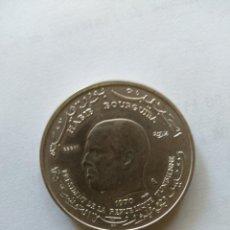 Monedas antiguas de África: TUNEZ- PRUEBA(ESSAI) DE LA MONEDA DE 1 DINAR DE 1970- DE HABIB BOURGUIBA. MONEDA DE PLATA. Lote 262003225