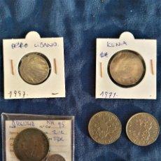 Monedas antiguas de África: LOTE 7 MONEDAS LIBANO,KENIA,ARGELIA,SUDAFRICA. Lote 262473600