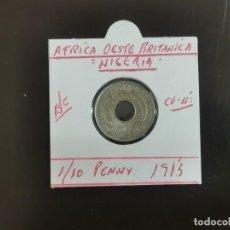 Monedas antiguas de África: AFRICA OESTE BRITANICA(NIGERIA) 1/10 PENNY 1913 B/C KM=4 (CUPRONIQUEL). Lote 263156400