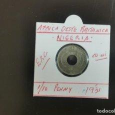 Monedas antiguas de África: AFRICA OESTE BRITANICA(NIGERIA) 1/10 PENNY 1931 EBC KM=7 (CUPRONIQUEL). Lote 263156570