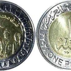 Moedas antigas de África: EGIPTO 1 LIBRA 2021 BIMETÁLICA - EQUIPOS MÉDICOS - SC SIN CIRCULAR. Lote 263190060