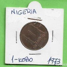 Monedas antiguas de África: NIGERIA 1 KOBO 1973. BRONCE KM#8.1. Lote 263593310