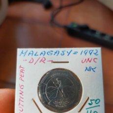 Monedas antiguas de África: MONEDA DE 10 DIEZ ARIARY MALAGASY MADAGASCAR 1992 SIN CIRCULAR. Lote 266183703