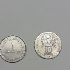 Monedas antiguas de África: MONEDAS DE EMIRATOS ÁRABES Y MAURITANIA. Lote 266598173