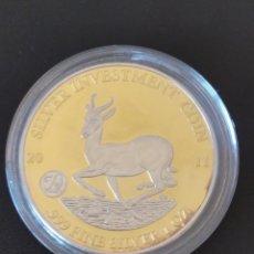 Monedas antiguas de África: MONEDA DE PLATA .999 , 1 OZ , CHAPADA EN ORO .995, CERTICADA.MALAWI 2011 , 50 KWACHA .EN SU CÁPSULA.. Lote 266706968
