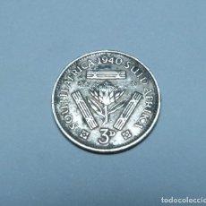 Monete antiche di Africa: MONEDA DE PLATA DE 3 PENIQUES DE SUDAFRICA DEL EMPERADOR JORGE VI AÑO 1940. Lote 267464274