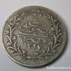 Monete antiche di Africa: 942,, RARA ESCASA MONEDA DE EGYPTO 10 QIRSH PLATA, AH-1327/6, 1913 MBC. Lote 267478059