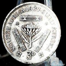 Moedas antigas de África: ⚜️ A2336. PLATA. 3 PENCE 1937. SUDÁFRICA. KM# 26. Lote 267644234